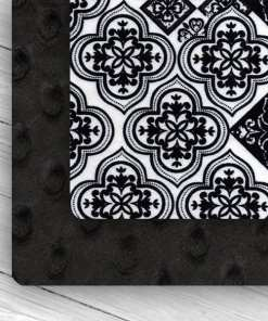 Custom Weighted Blanket Black/Black Lace Combo