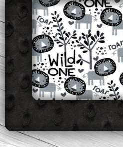 Custom Weighted Blanket Black/Wild One Combo