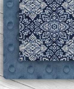 custom weighted blanket combo denim/blue lace