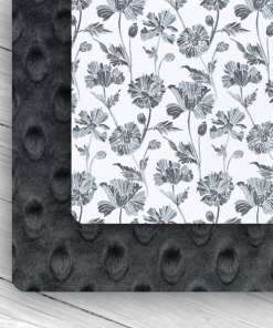 Custom Weighted Blanket Ash/Gray Floral Combo