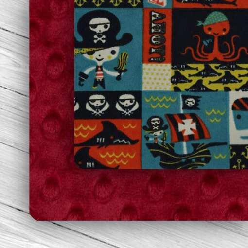 Custom Weighted Blanket Crimson/Pirates Combo
