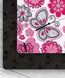 Custom Weighted Blanket Black/Butterflies Combo