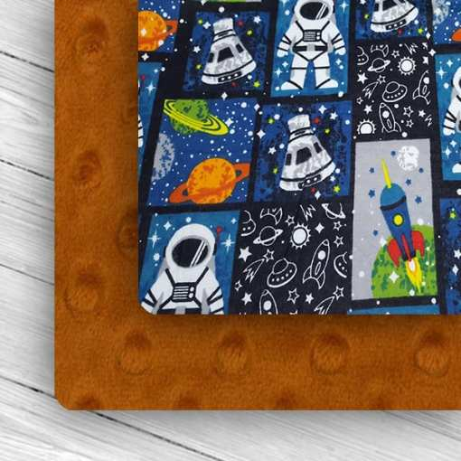 Custom Weighted Blanket Rust/Astronaut Combo