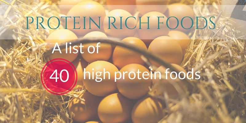 Protein rich foods title