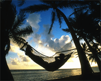hammock sunset beach
