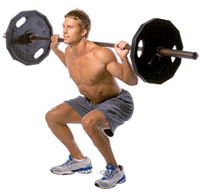 barbell squat man