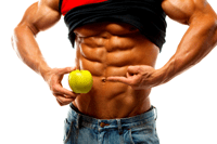 bodybuilder with abs