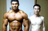 skinny guy vs muscular guy