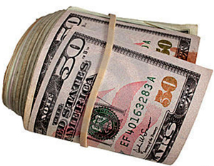 50-Banknoten-Rolle