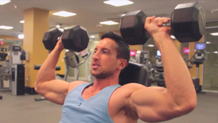 Slow-Motion-Dumbbell-Shoulder-Press-For-Boulder-Shoulders
