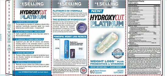 Hydroxycut Platinum ingredients