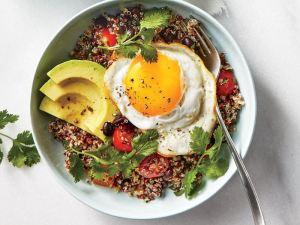 Quinoa Bowls with Avocado and Egg