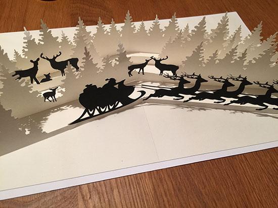 3d Popup Karte Winterwonderland Weihnachtszeit DesignBlog