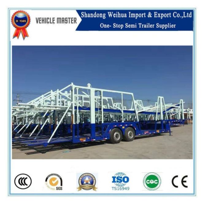 Two Axle Flatbed Container Semi Truck Trailer Hot Sale