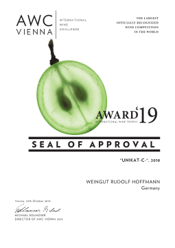 AWC 2019 Seal of Approval für Unicat C 2018