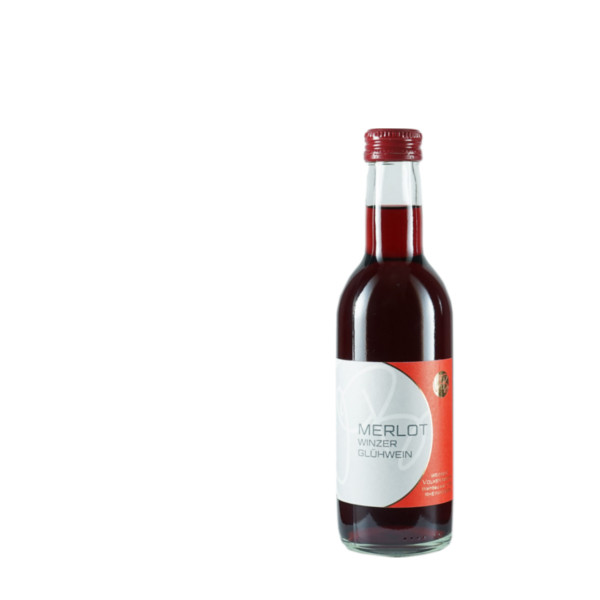 Weinflasche Merlot Winzer Glühwein 250ml Rheinhessen (Bild: Weingut Volker Barth)