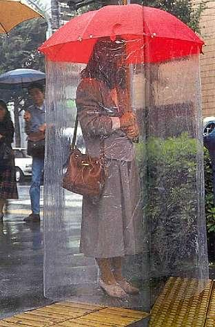full body umbrella Chindogu: Weird and Useless Japanese  Inventions picture