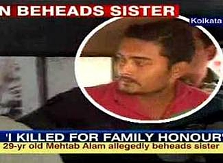 Mehtab Alam man who beheaded sister in India honor killing