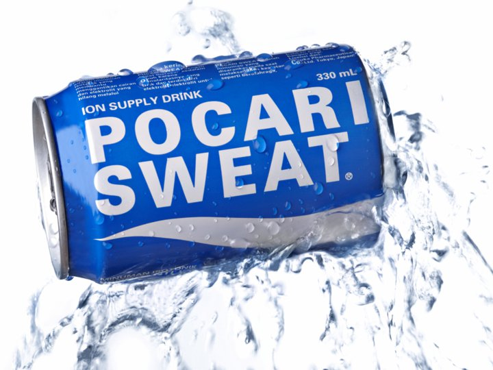 A can of Pocari Sweat