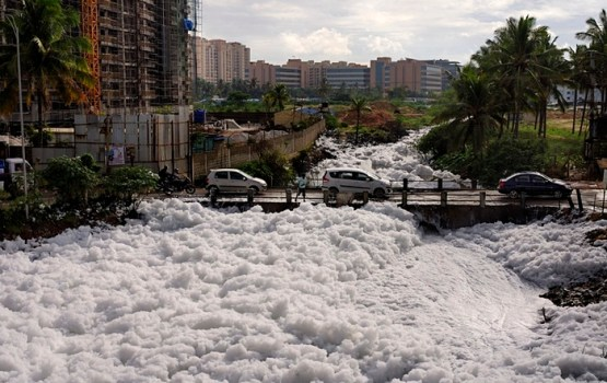 Toxic Foam Takes Over Indian City
