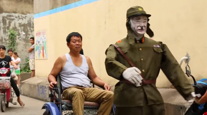 China rickshaw japanese soldier robot wwii
