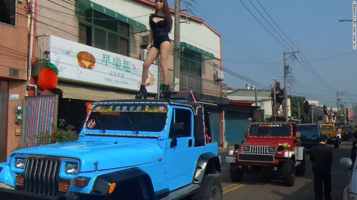 Taiwan politician funeral pole dancer strippers