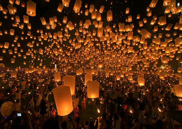 taiwan lantern festival sky lanterns chinese new year