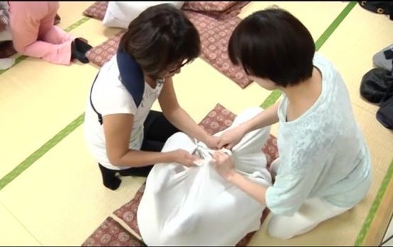 Japanese Trend Involves Swaddling Adults From Head To Toe