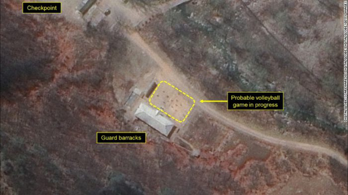 north korea volleyball court nuclear test site