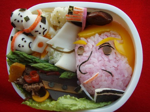 Donald Trump bento kyaraben art