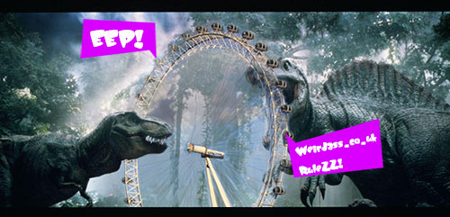Jurassic Park - Dinosaurs and the London Eye