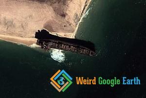 Shipwreck in Dakhlet Nouadhibou, Mauritania
