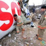 Plane Wreckage at Domodedovo Airport, Domodedovo, Moskovskaya oblast', Russia