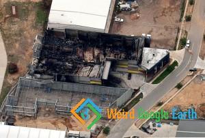 Burned Down Building, Mitchell, Australian Capital Territory, Australia