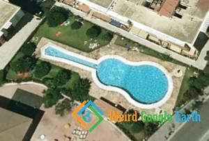 Guitar-Shaped Pool, Málaga, Spain