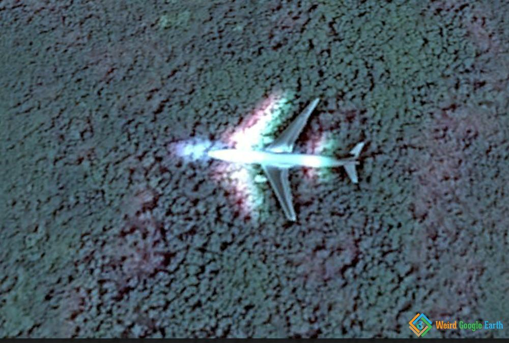 Fiji Prismatic Plane Weird Google Earth