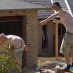 Aussie Lads with Arses Out, Ballarat, Victoria, Australia