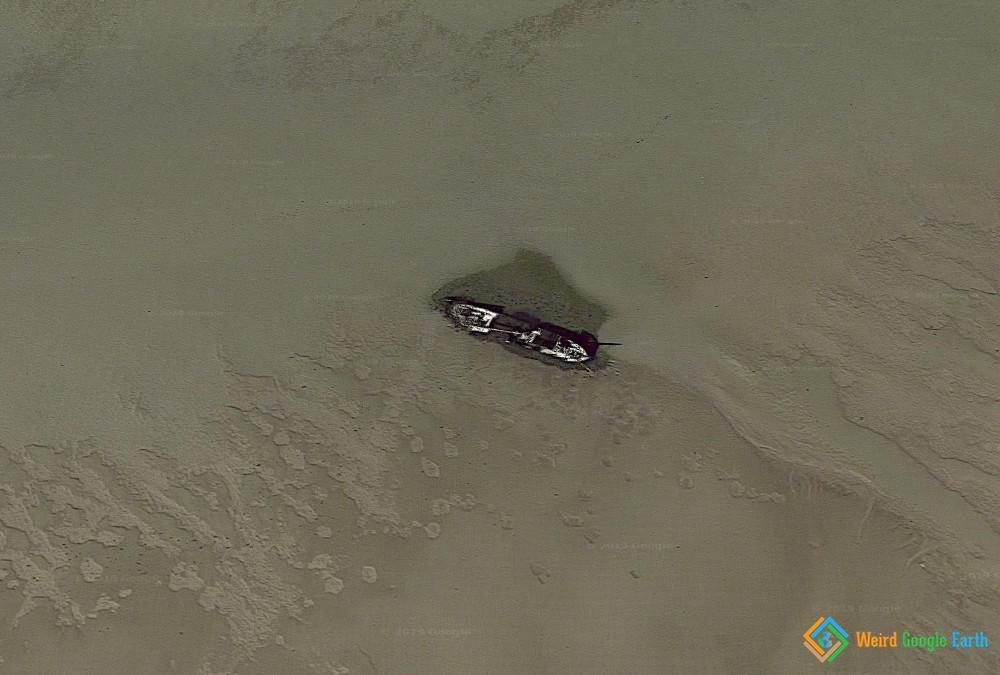 Mud Flat Shipwrecks, Wadden Sea, Germany