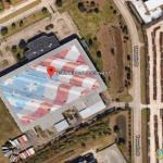 Giant US Flag, Houston, Texas, USA