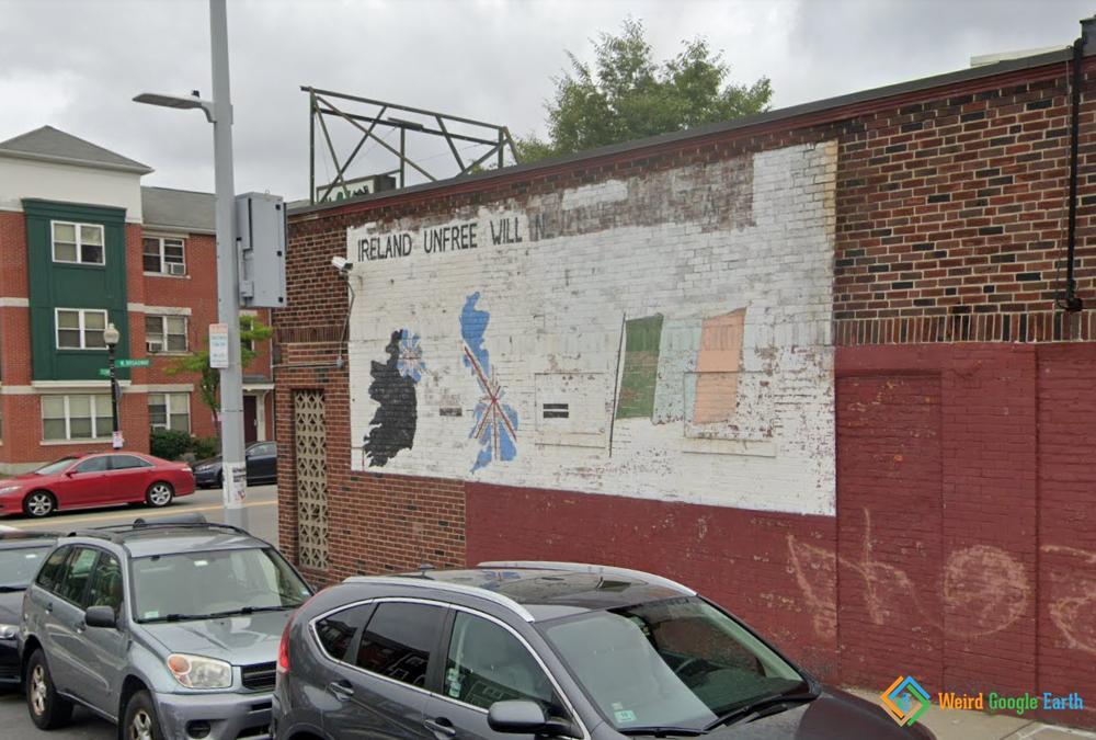 Freedom for Ireland Mural, Boston, Massachusetts, USA
