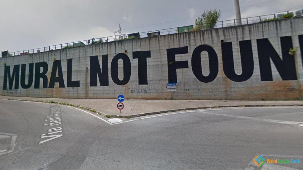 Error 404-Mural Not Found, Latina, Italy