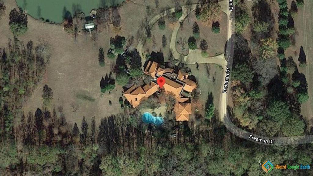 Morgan Freeman's Home, Charleston, Mississippi, USA