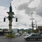 Traffic Lights with Elephant Statue, Krabi, Thailand