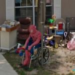 Spiderman Loses his Footing, Lake Placid, Florida, USA