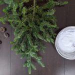 Diy Flocked Mini Christmas Trees