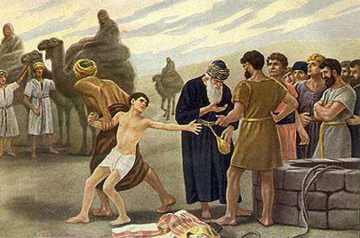 Image result for Joseph is sold into slavery by his brothers.