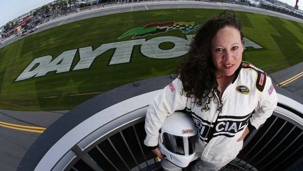 Kim Lopez will be NASCAR's first ever woman and Latina chief starter at this Sunday's Daytona 500 / Image Courtesy of NASCAR