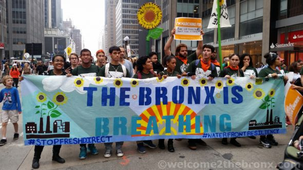 This past September, Bronx residents were amongst the frontline of the People's Climate March leading thousands on a miles long march route through midtown Manhattan.