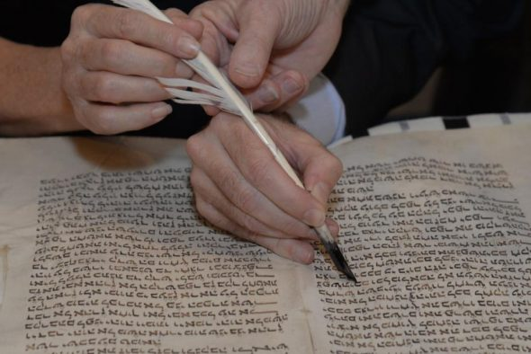 The Calvary Torah is undergoing careful restoration/Image Via Daily News