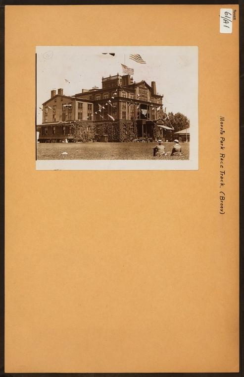 """Irma and Paul Milstein Division of United States History, Local History and Genealogy, The New York Public Library. """"Bronx: Morris Park Race Track."""" The New York Public Library Digital Collections. 1910."""